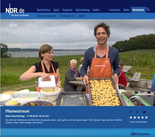 Obsthof Gut Stubbe Im Ndr Fernsehen Obsthof Gut Stubbe